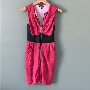 Bebe Pink Dress with Zipper
